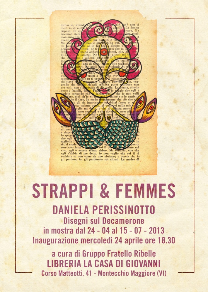 STRAPPI & FEMMES - Daniela Perissinotto espone alla Libreria LA CASA DI GIOVANNI
