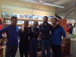 Federico, Daniele Molmenti, Mauro Corona, Daniele e Marco