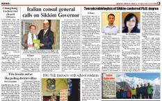 La pagina del Sikkim Express con il Console Cesare Bieller (nel riquadro a destra la spedizione ritratta al Goecha-La)
