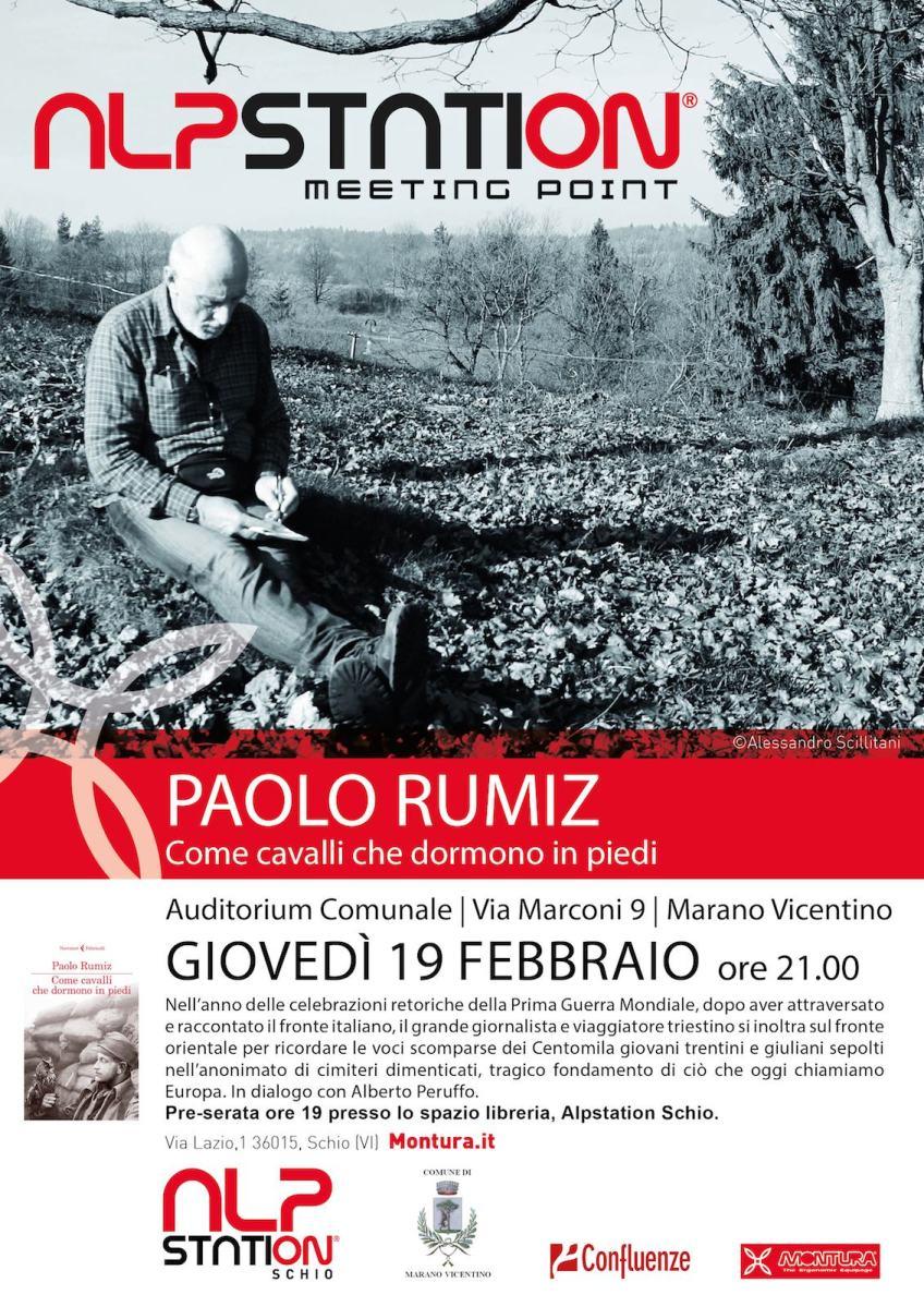 PAOLO RUMIZ | Come cavalli che dormono in piedi | AUDITORIUM MARANO VI