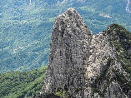 La Parete Nord del Baffelan vista dal Cornetto