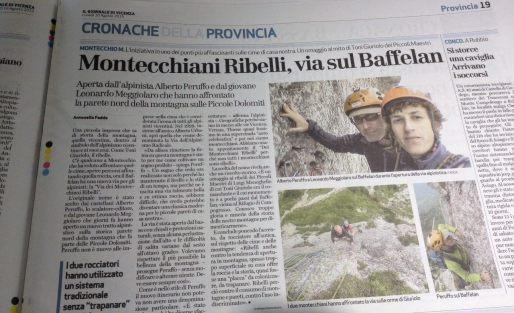 Articolo sul Giornale di Vicenza