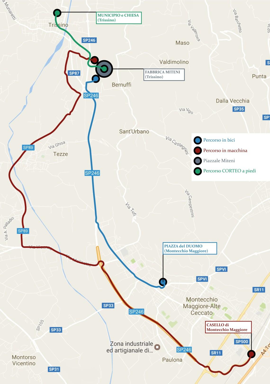 Mappa Marcia dei Pfiori