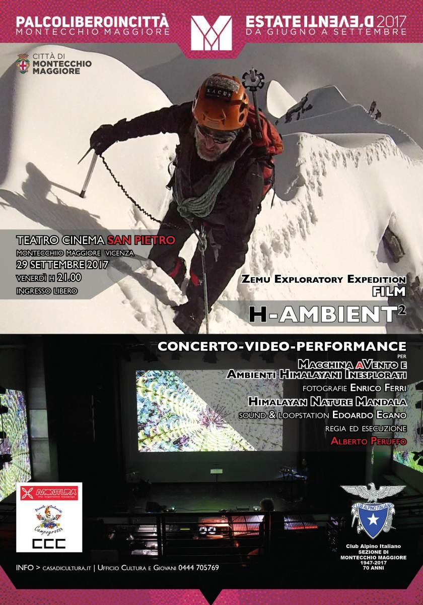 H-AMBIENT2 Tour | la data di MONTECCHIO al Teatro Cinema SAN PIETRO | 29 settembre 2017