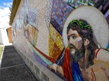 Parte del mosaico murale della Chiesa di Yanama