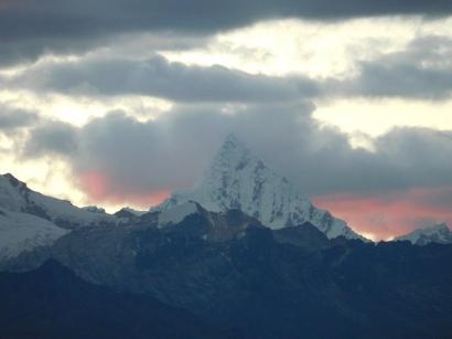 Il Chacra svetta anche al tramonto