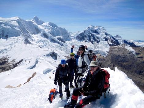 In vetta all'Ishinca 5530 m