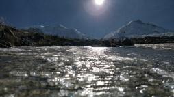 Riflessi di ghiaccio sull'Alta Via dello Huascaran