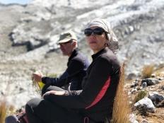 Riposo sull'Alta Via dello Huascaran
