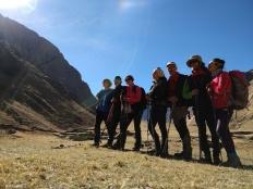 Foto di gruppo sulla Cordillera Huayhuash