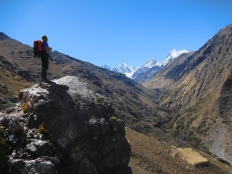 Sullo sfondo la Cordillera Huayhuash