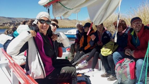 In navigazione sul lago Titicaca