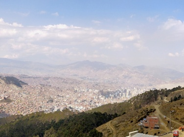 Lasciando El Alto, verso La Paz