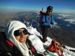 Martina e Giacomo, in vetta allo Huayna Potosí 6088 m