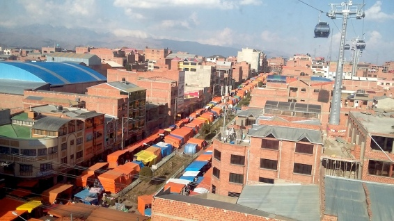 """El Alto """"dall'alto"""" della cabinovia"""