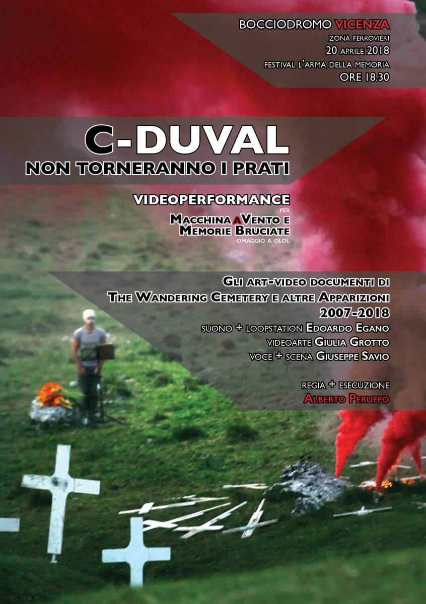 C-DUVAL. Non torneranno i prati | videoperformance per MACCHINA A VENTO e MEMORIE BRUCIATE