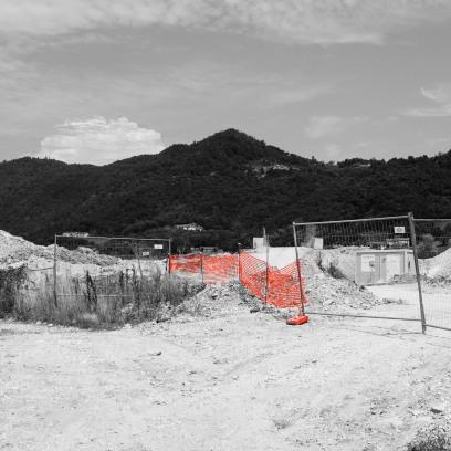Il cantiere della SPV in zona Poscole